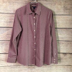 Lands' End Gingham Button Up Shirt